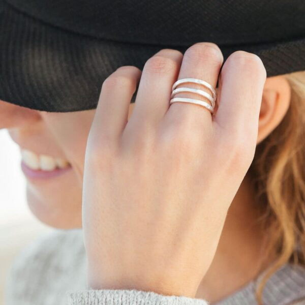 Sophie Triple Ring Silver Lady
