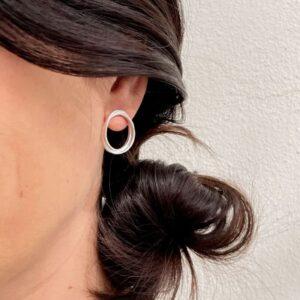 Sophie Twin M Earrings Silver Lady
