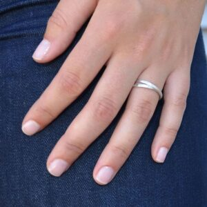 Sophie Twin Ring Silver Lady