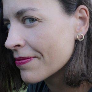 Sophie Twin S Earrings Gold Lady