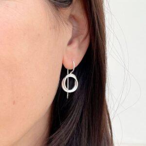 Sophie Twin S Hippies Earrings Silver Lady