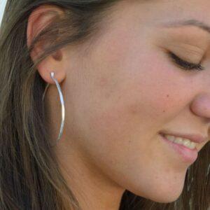 Sophie XL Hoop Earrings Silver Lady