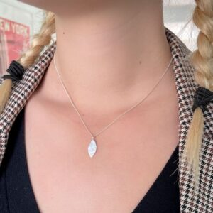 Spring Moon Pendant Silver Lady