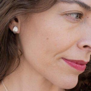 Spring moon earrings silver lady