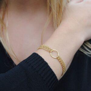 Storm Bracelet Gold Lady