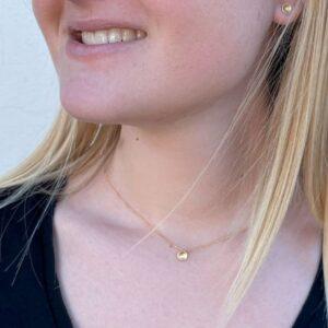 Tinny Twin Pendant Gold lady