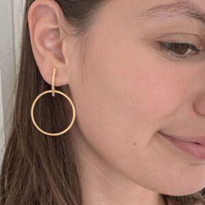 Twin Along L earrings Gold Lady
