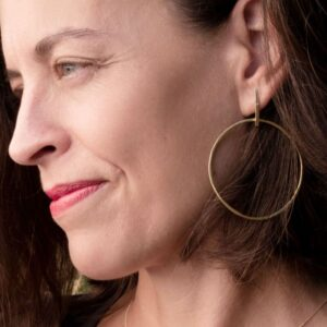 Twin Along XL earrings Gold Lady
