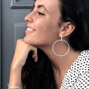 Twin Along XL earrings Silver Lady