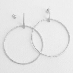 Twin Along XL earrings silver