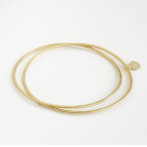 Twin Double Bangle Gold