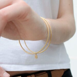 Twin Double Bangle Gold Lady
