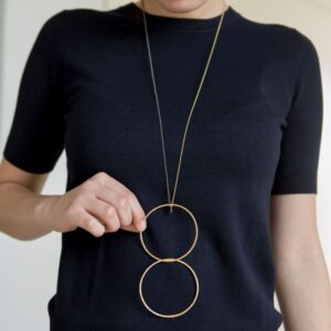 Twin XXL 2 in 1Necklace Gold Ruthenium lady