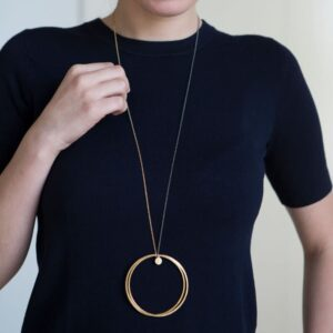Twin XXL 2 in 1 Necklace Gold Ruthenium lady