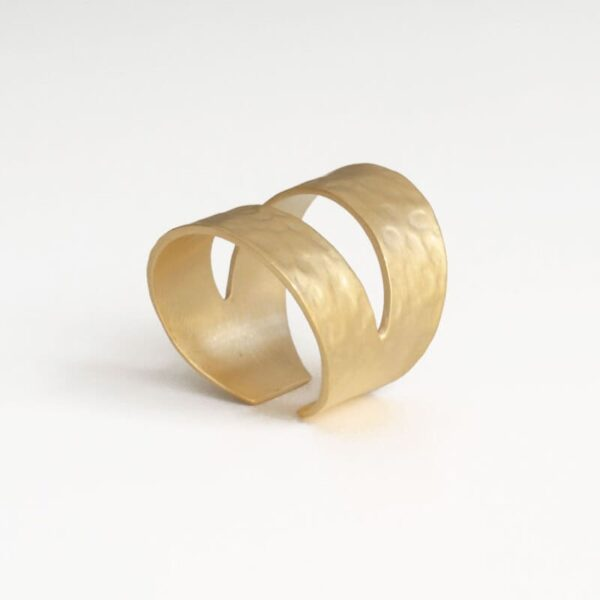 Two Moons Ring Gold