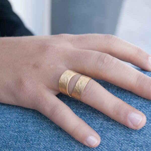 Two Moons Ring Gold Lady