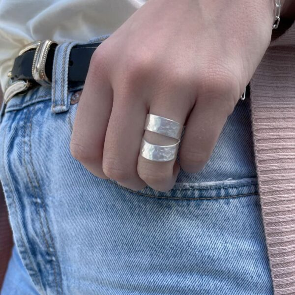 Two Moons Ring Silver Lady