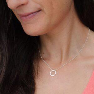 insieme circle pendant silver lady