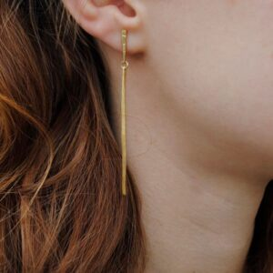 kam two Parts earrings Gold Lady