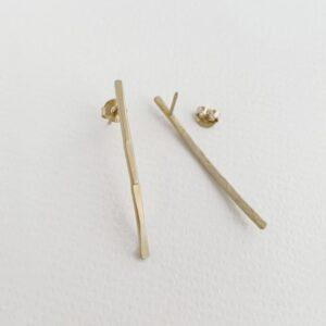 kam along XL earrings gold