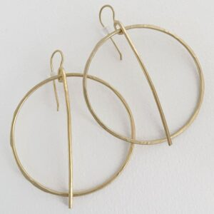 kam around xl earrings gold