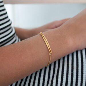 kam double stick bracelet gold lady