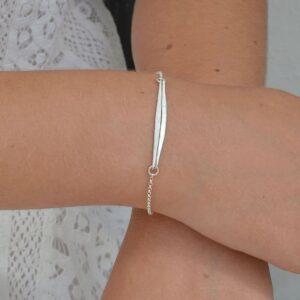 kam double stick bracelet silver lady
