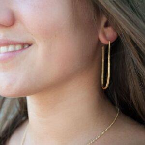 kam earrings gold lady