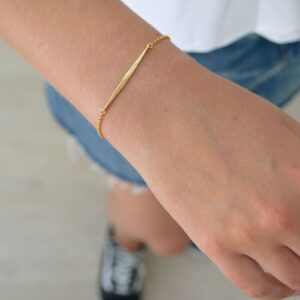 kam thin stick bracelet gold lady