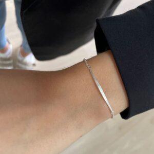 kam thin stick bracelet silver lady