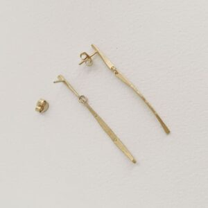 kam two parts earrings gold