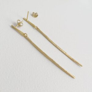 kam xl two parts earrings gold