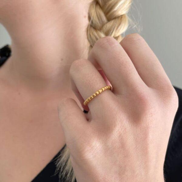 misha ring gold lady