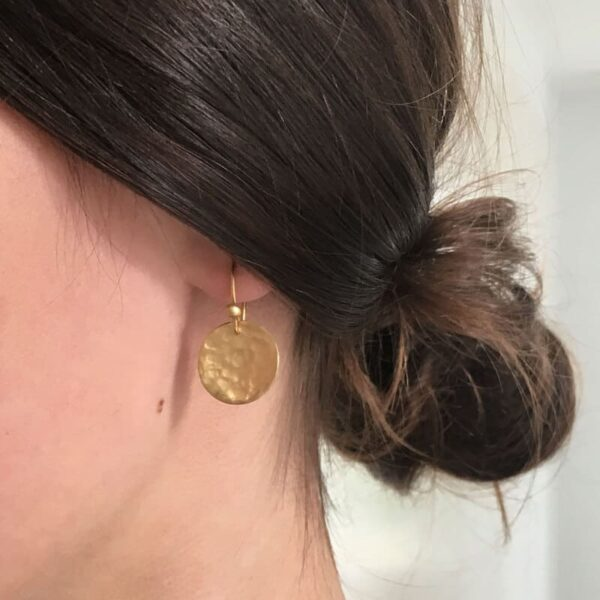 moon Hippies earrings gold lady