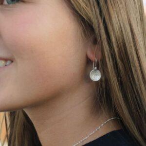 moon S Hippies earrings silver lady