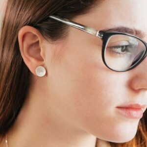moon S earrings silver lady