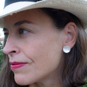 moon earrings silver lady