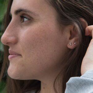 nina double earrings silver lady