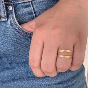 nina double ring gold lady