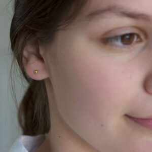 nina earrings gold lady