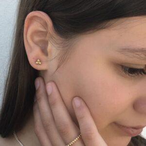 nina triple earrings gold lady