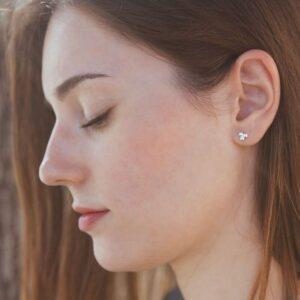 nina triple earrings silver lady