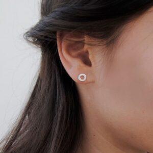 one soul supermini circle earrings silver lady
