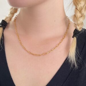 rock and soul chain pendant gold lady