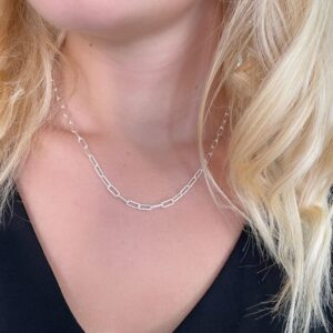 rock and soul chain pendant silver lady