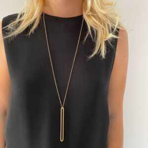 rock and soul long necklace gold lady