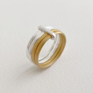 sophie 4mix ring gold silver