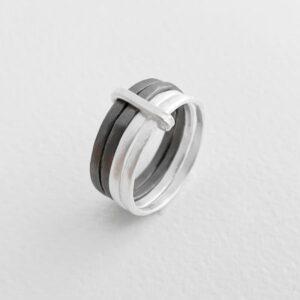 sophie 4mix ring silver ruthenium