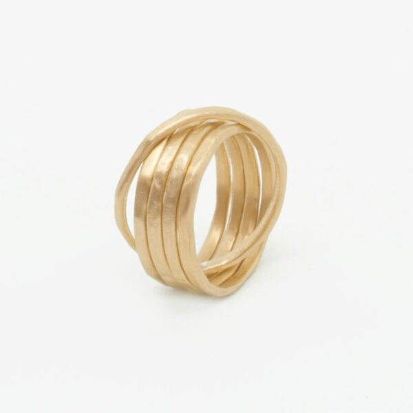 sophie 5 twin ring gold