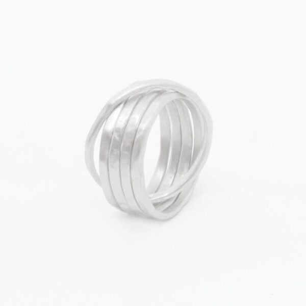 sophie 5 twin ring silver